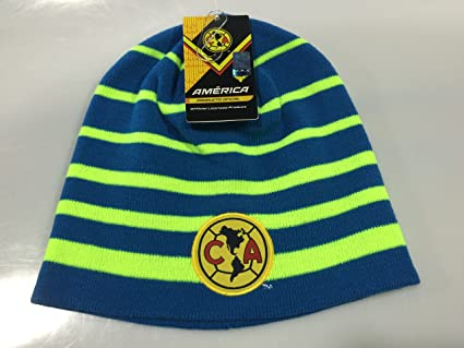 CLUB AMERICA AGUILAS CUFFLESS Blue JERSEY BEANIE HAT (GORRA BEANIE) RINOX WARM ORIGINAL (