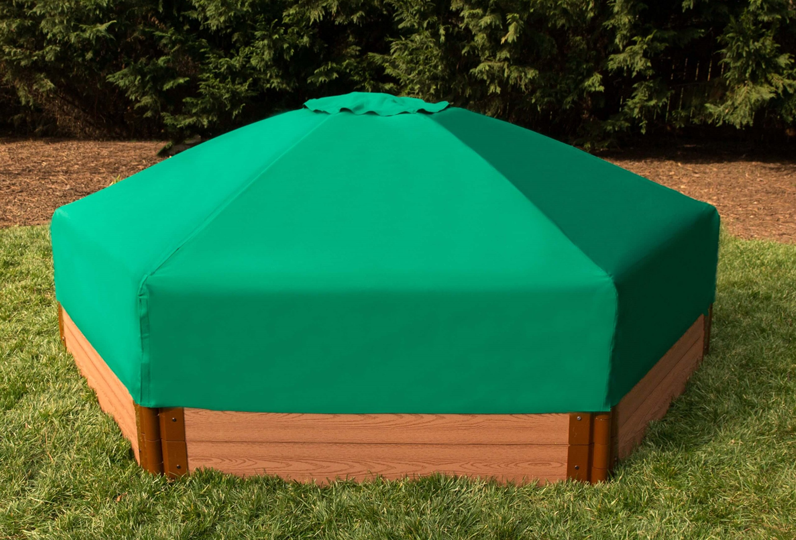 Frame It All 300001508 Hexagonal Collapsible Sandbox Cover, 7' x 8' x 13.5'' by Frame It All (Image #3)