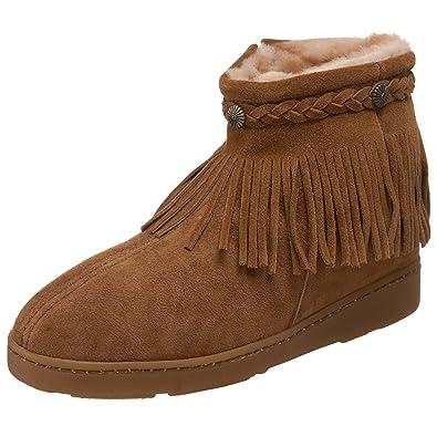 Amazon.com | Minnetonka Women's Sheepskin Fringe Ankle Boot ...
