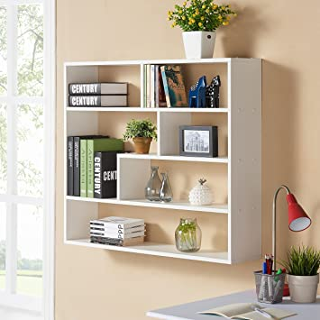 Danya B  Large Rectangular White Shelf Unit. Amazon com  Danya B  Large Rectangular White Shelf Unit  Home