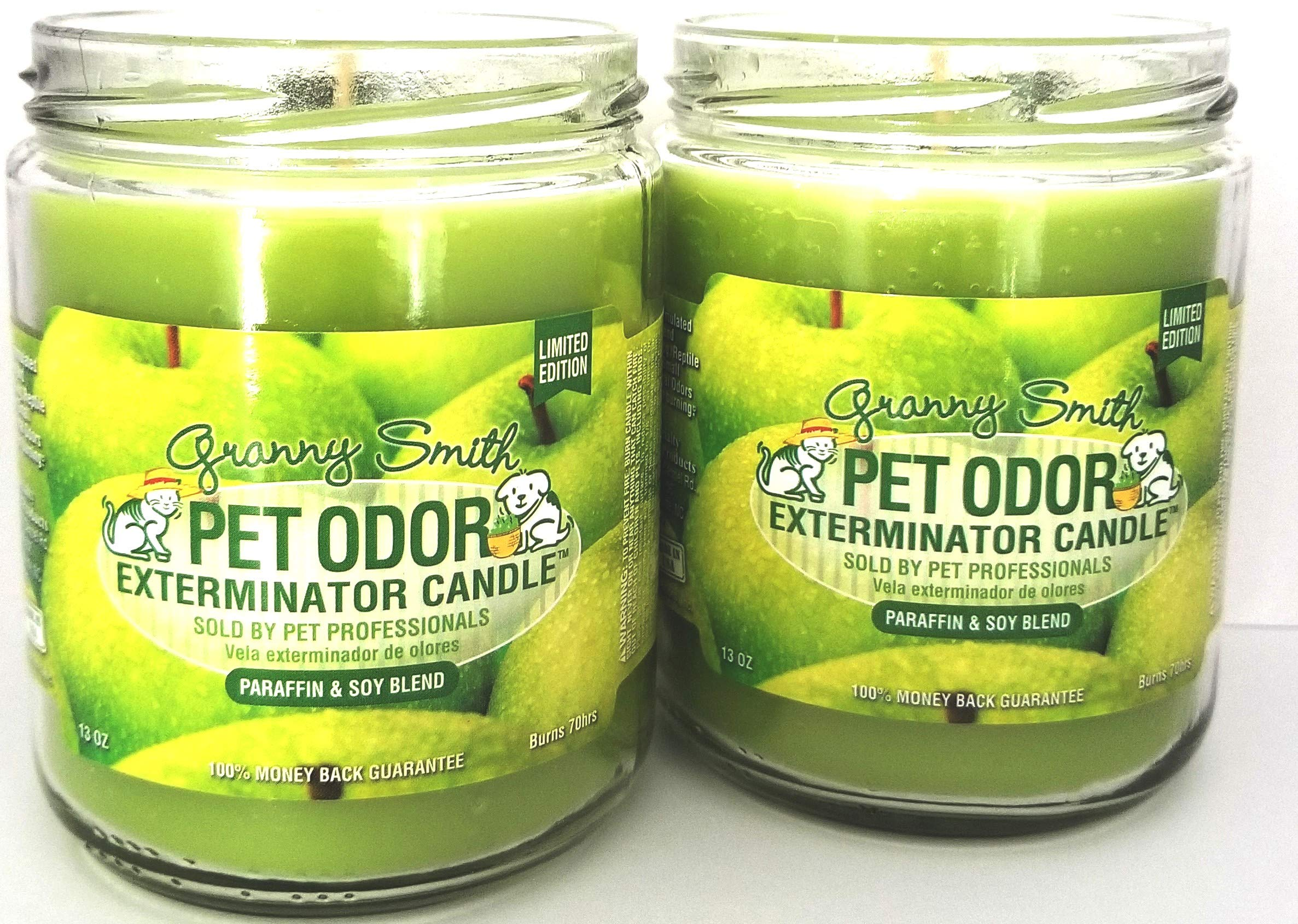 Specialty Pet Products Pet Odor Exterminator Candle, Granny Smith - Pack of 2