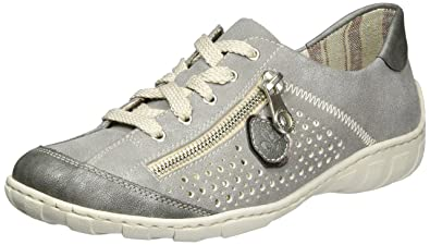 Womens M3705 Low-Top Sneakers, Grey, 3.5 UK Rieker