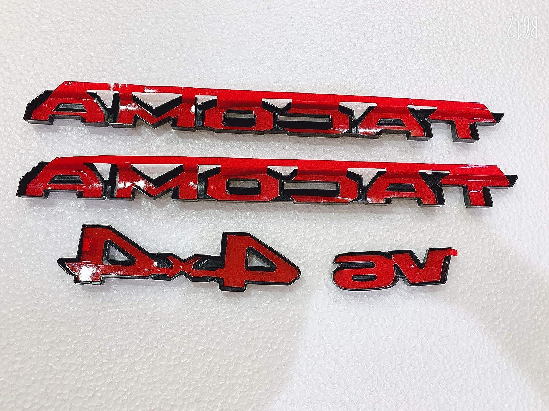 Matte Black ABS V6 Emblem Nameplate Bumper Trunk Fender Sticker Badge For Tacoma