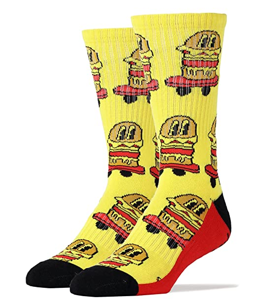 67a1cdbc19b8a Image Unavailable. Image not available for. Color: Oooh Yeah Socks Men's  Luxury Combed Cotton Athletic Funny ...