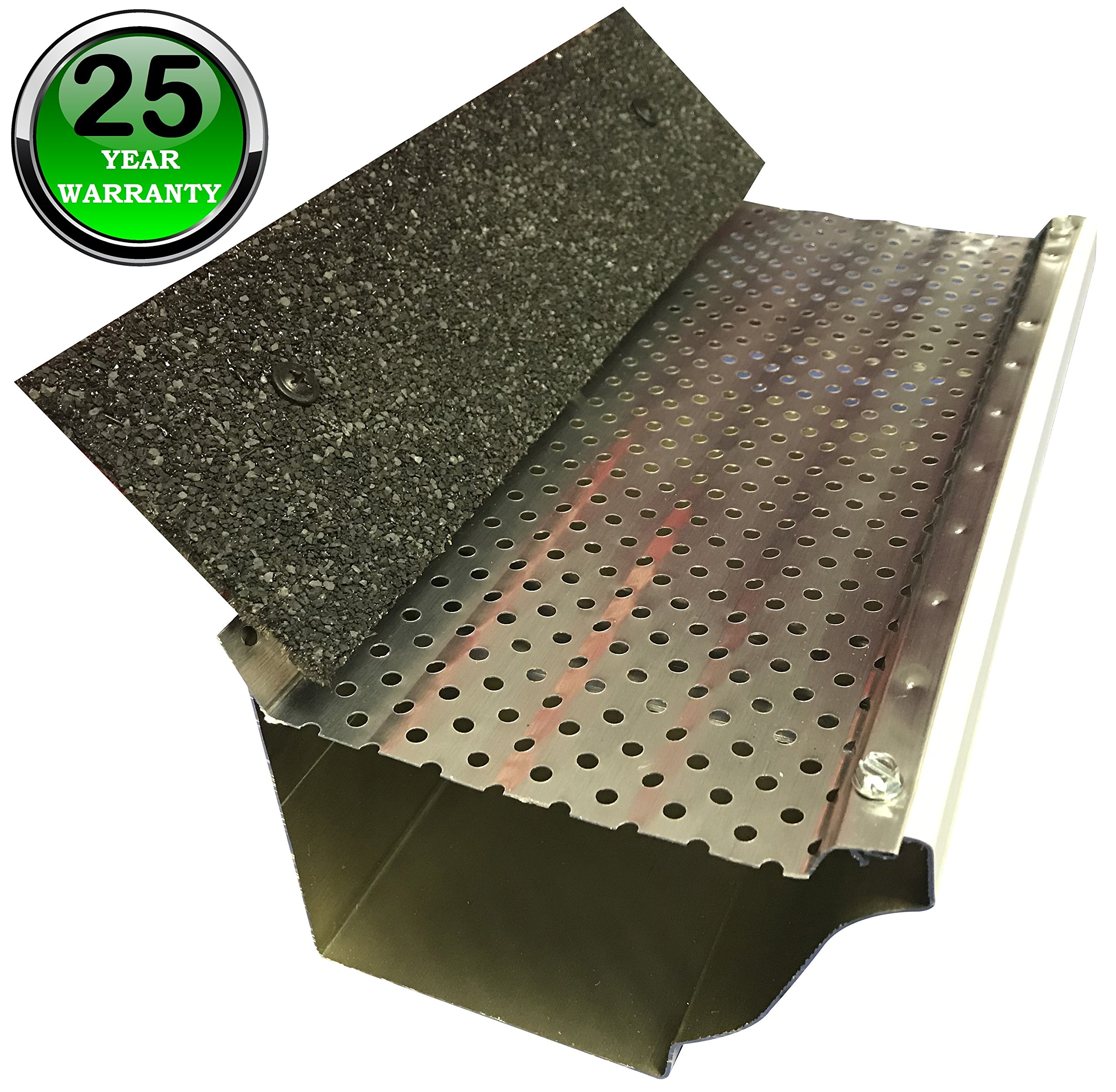 (200 feet) Shur Flo X Leaf Guard Gutter Protector for 5'' K-Style Gutters. Light Bronze Aluminum. 50 panels x 4.00' each. by SHURFLO