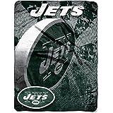 NFL New York Jets 46-Inch-by-60-Inch Micro-Raschel Blanket, Grunge Design