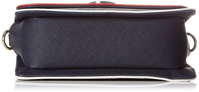 Stitch Leather Za Wallet, Womens Blue (Tommy Navy), 10x2.5x19 cm (B x H T) Tommy Hilfiger