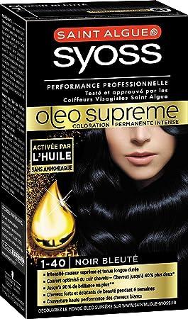 Syoss Coloration Permanente Cheveux Oleo Supreme 1 40 Noir