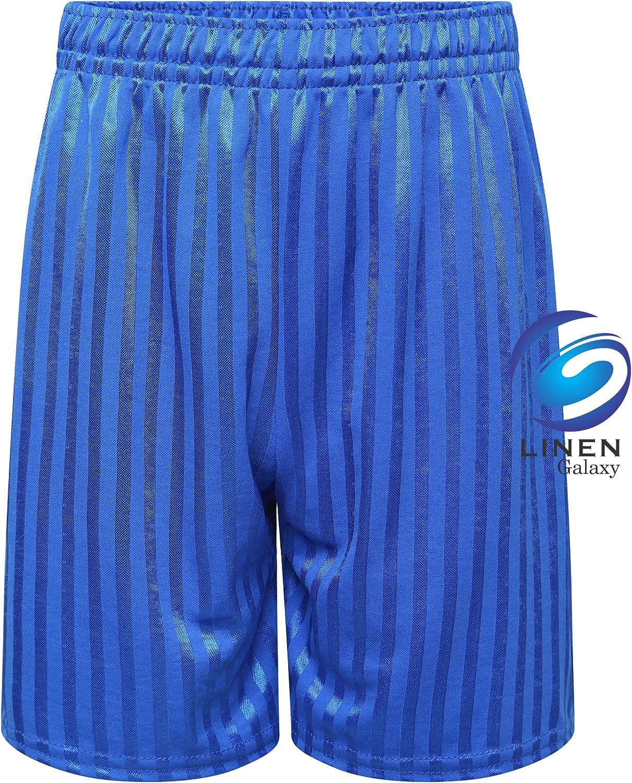 Unisex Girls Cotton Soft Fabric Elasticated Shorts Kids PE Schoot Football Boys