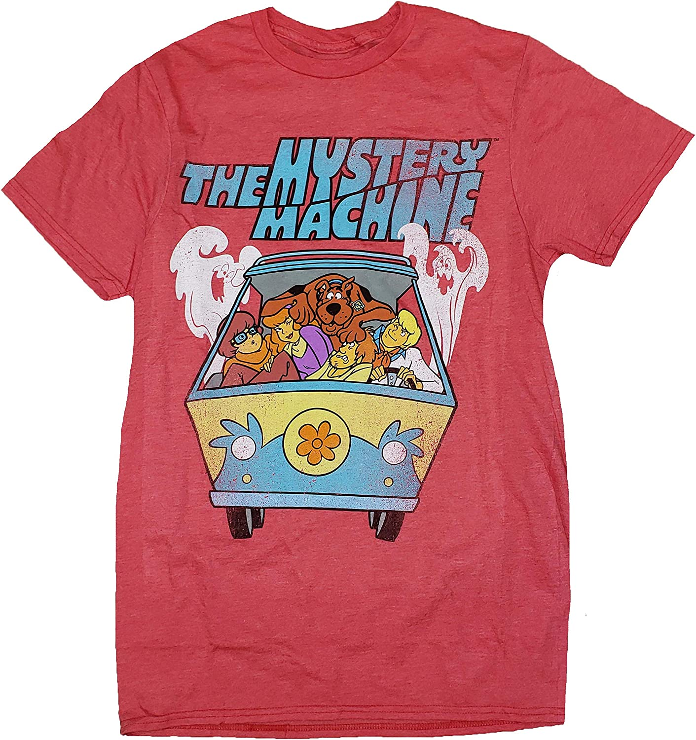 Scooby Doo The Mystery Machine Red Graphic T-Shirt