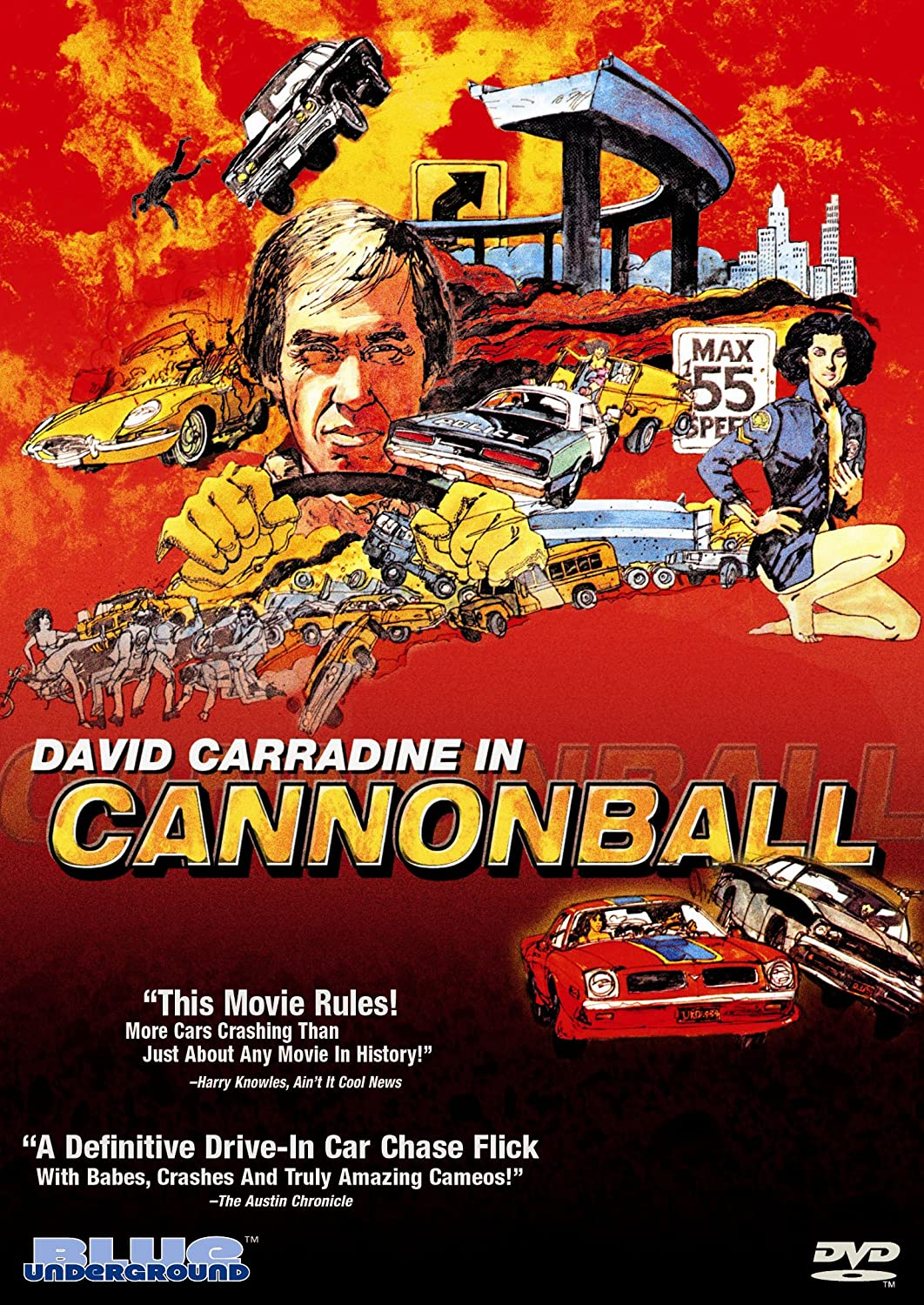 Cannonball David Carradine Bill McKinney Veronica Hamel Mary Woronov