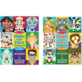 Melissa & Doug Make a Face Sticker Pad Set - Crazy Characters and Crazy Animals