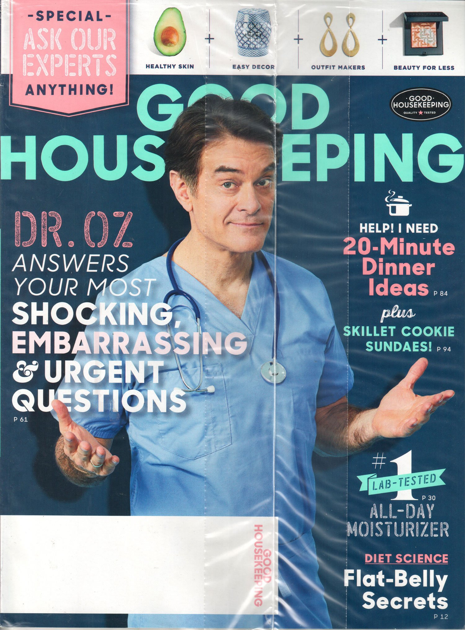 Download Good Housekeeping Magazine February 2018  Dr. Oz answers your questions PDF