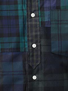 Crazy Pattern Black Watch Buttondown Shirt 1211-599-7066: Dark Green
