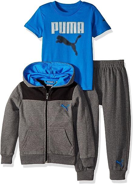 Puma Infant Boy/'s Cat Full Zip Front Active Green Hoodie Sweatshirt /& Pant Set