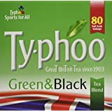 Typhoo 80 Green and Black Tea Teabags (Pack of 6, Total 480 Teabags)