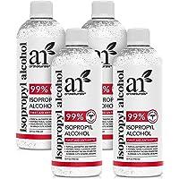 Artnatural Rubbing Isopropyl Alcohol - 99% Pure - 1 Gallon (Pack of 4 Quart) - Made in USA - Industrial Grade IPA…
