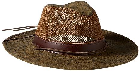 Amazon.com  Henschel Men s Hiker Crushable Mesh Breezer with Leather ... d1229337d6ec