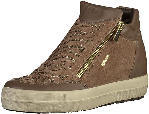 IGI&CO Zapatillas de Deporte de Cuña Interior Zapatos de Mujer 87757/00 Talla 40 Barro