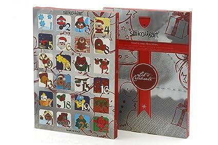Calendar Box Juego 2 Cajas Decoradas + Estructura en plástico para 2 Calendarios de Adviento.
