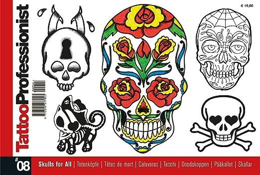 Tatuaje Flash Book - pequeña calavera diseños: Amazon.es: Hogar