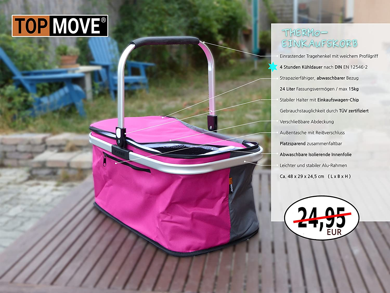 Huntfgold Faltbare Thermo-Einkaufskorb Isoliert K/ühlkorb K/ühltasche 29L Gro/ße Picknicktasche