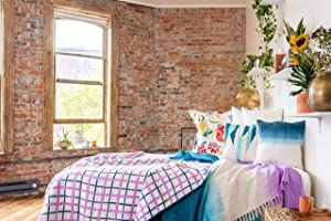 Refinery29 | Mave Plaid Bedding Collection | Luxury 100% Cotton Premium Ultra Soft Quilt Coverlet, Lightweight Comfortable 3 Piece Set, Modern Design for Home Hotel Décor (Full/Queen, Purple)
