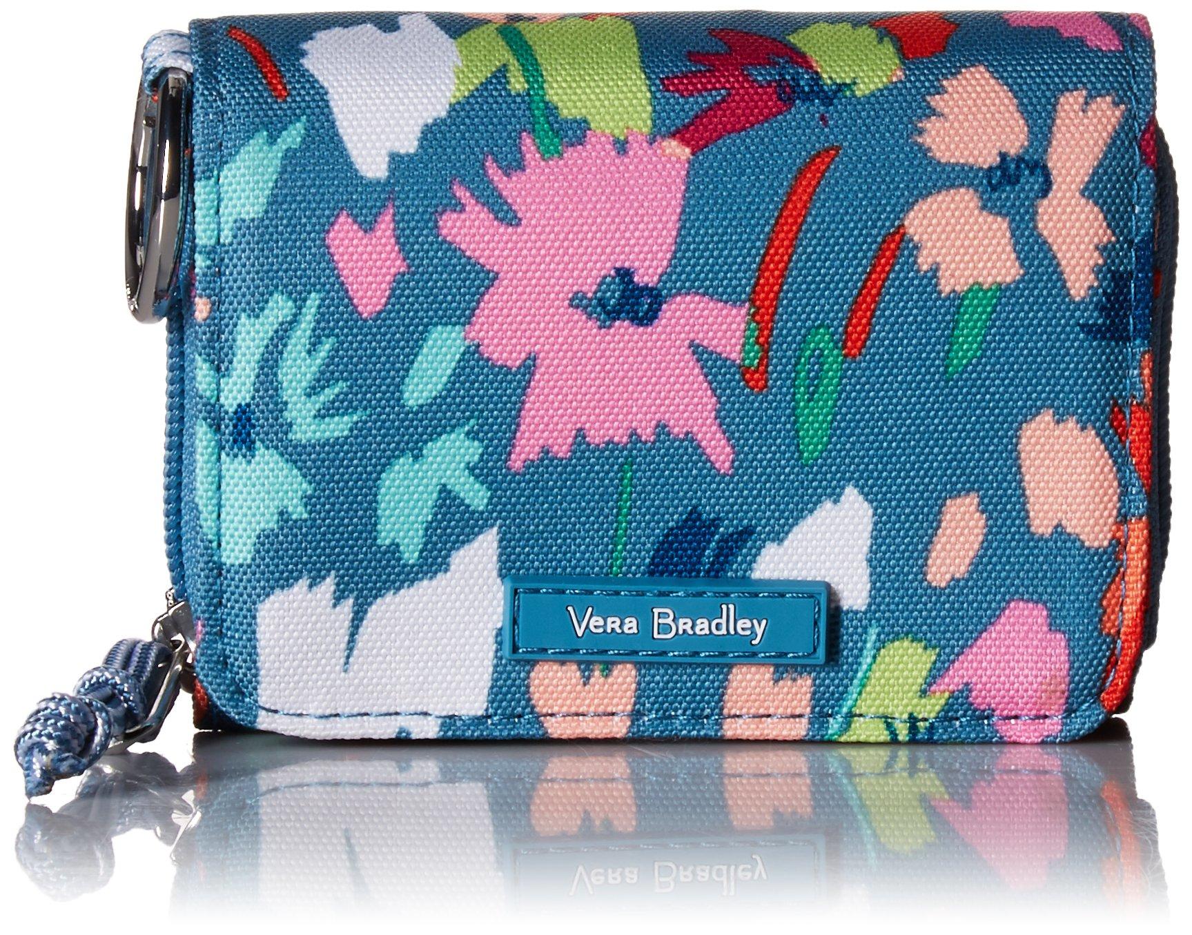 Vera Bradley Lighten Up RFID Card Case, Polyester, Superbloom Sketch by Vera Bradley