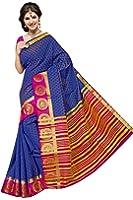40 Monstera Women'S Woven & Zari Border Partywear Casual Saree