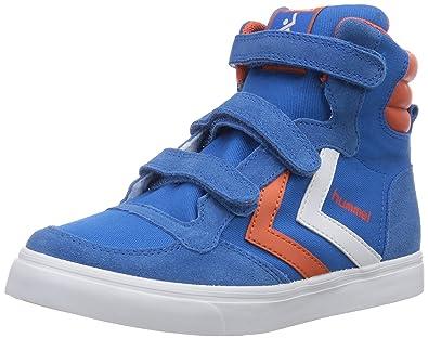 a880662e6fb Hummel STADIL JR CANVAS HI, Unisex-Kinder Hohe Sneakers, Blau (Brilliant  Blue