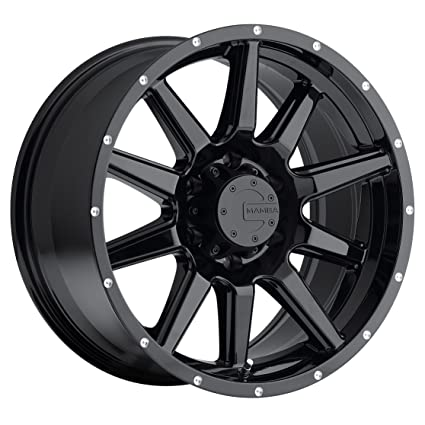 amazon com mamba m15 gloss black wheel 17x9 6x139 7mm 12mm