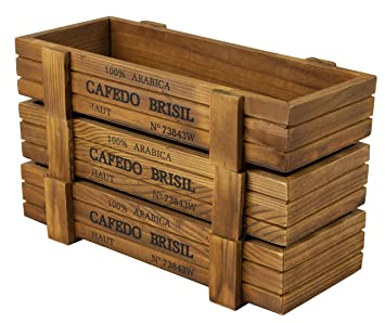 Amazon Com Succulent Planter Box 3 Count Wood Planter Box 8 9 X