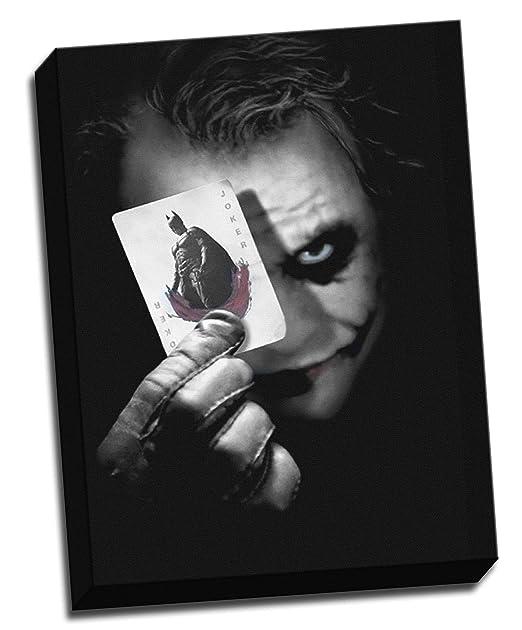Batman Joker tarjeta de lienzo Heath Ledger - lienzo (tamaño ...