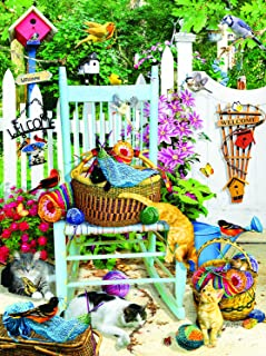 product image for The Knitting Chair 1000 Pc Jigsaw Puzzle -Knitting Theme- by SunsOut