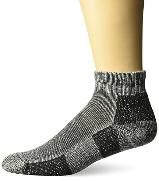 3806d5858 Thorlos Unisex TRMX Trail Running Thick Padded Ankle Sock, Charcoal, Medium