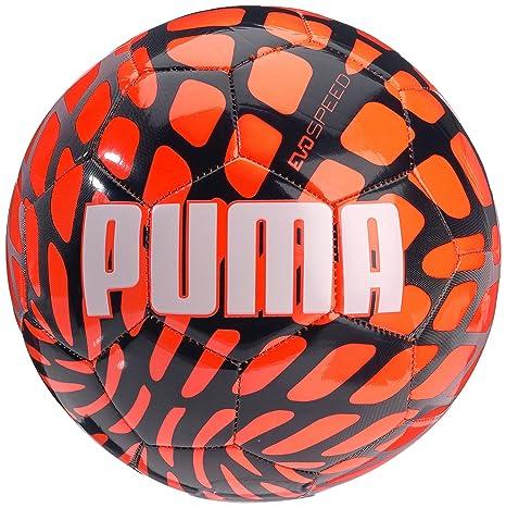 PUMA Balón de fútbol EVO Speed 5,4 Frame, Lava tocad/White/Parasol ...