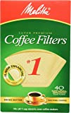 Melitta 620122 40 Count #1 Natural Brown Cone Coffee Filters (Pack of 5) [並行輸入品]