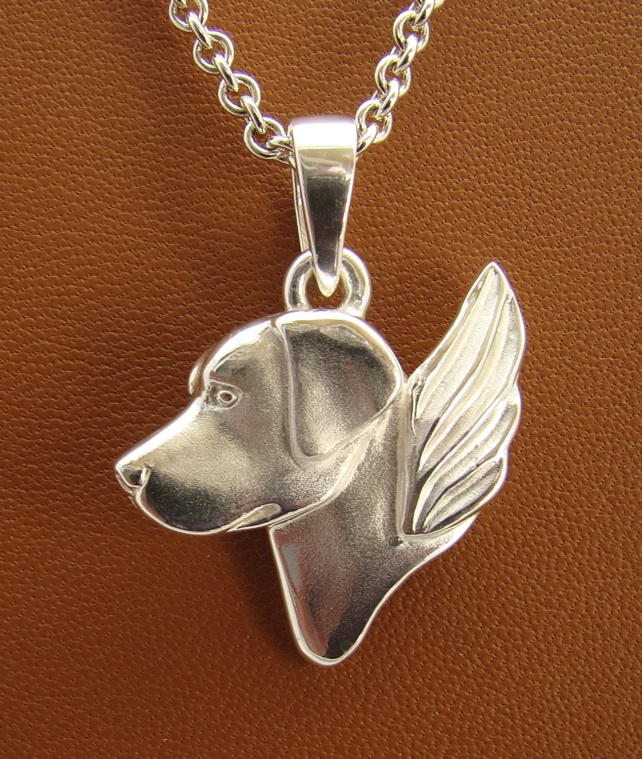 Solid Sterling 925 Silver Labrador Dog Lover Pendant Jewellery Gift