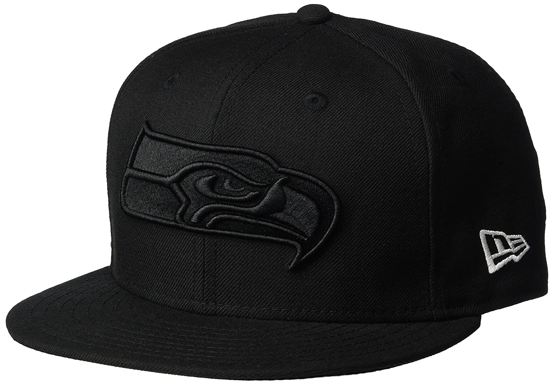 bd4cd596a152 New Era 9Fifty Snapback Cap - BOB Seattle Seahawks black: Amazon.co.uk:  Sports & Outdoors