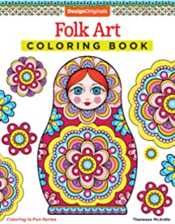 Folk Art Coloring Book Design Originals Is Fun