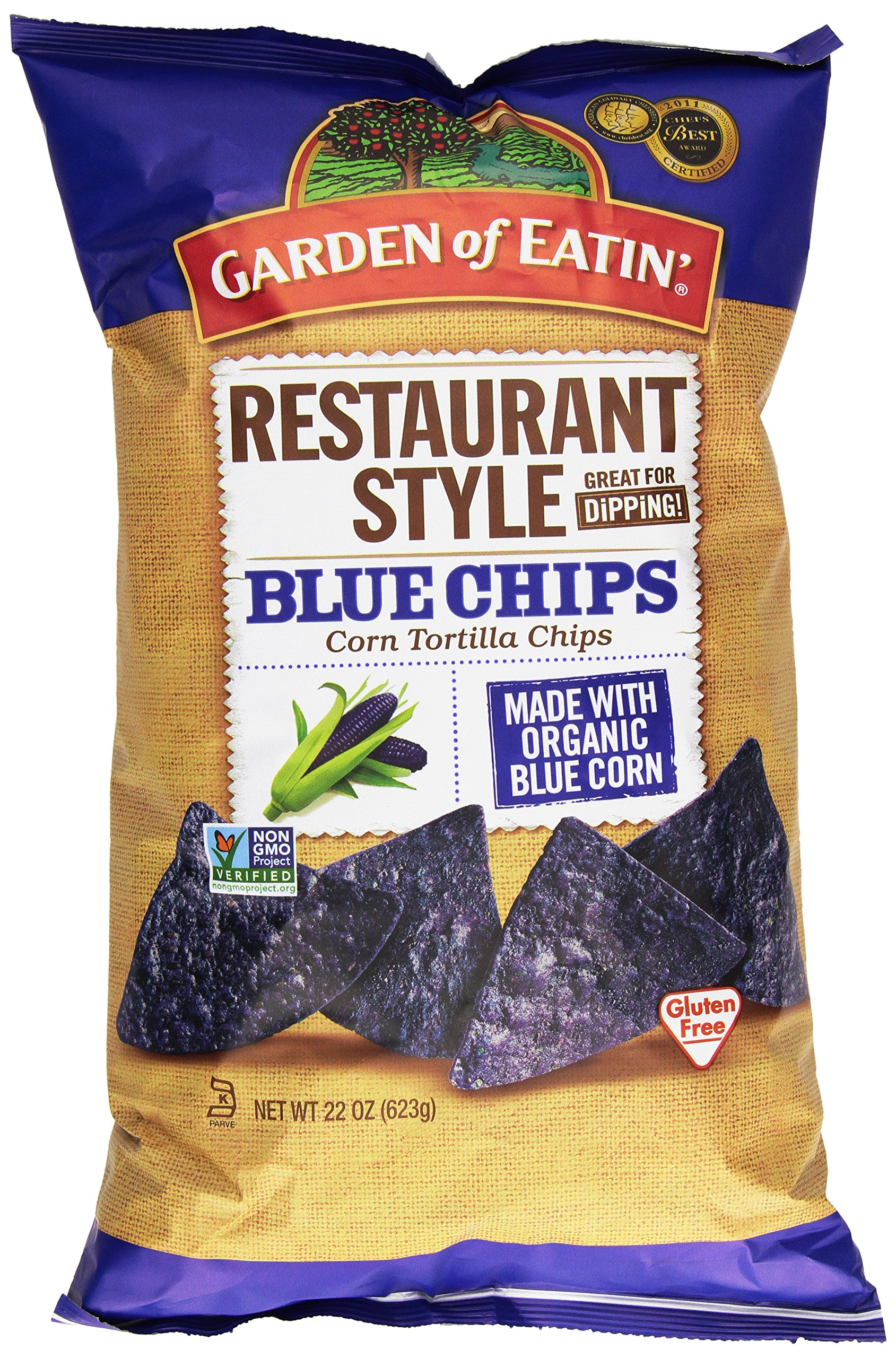 Garden of Eatin', Restaurant Style Blue Corn Tortilla Chips, 22 oz