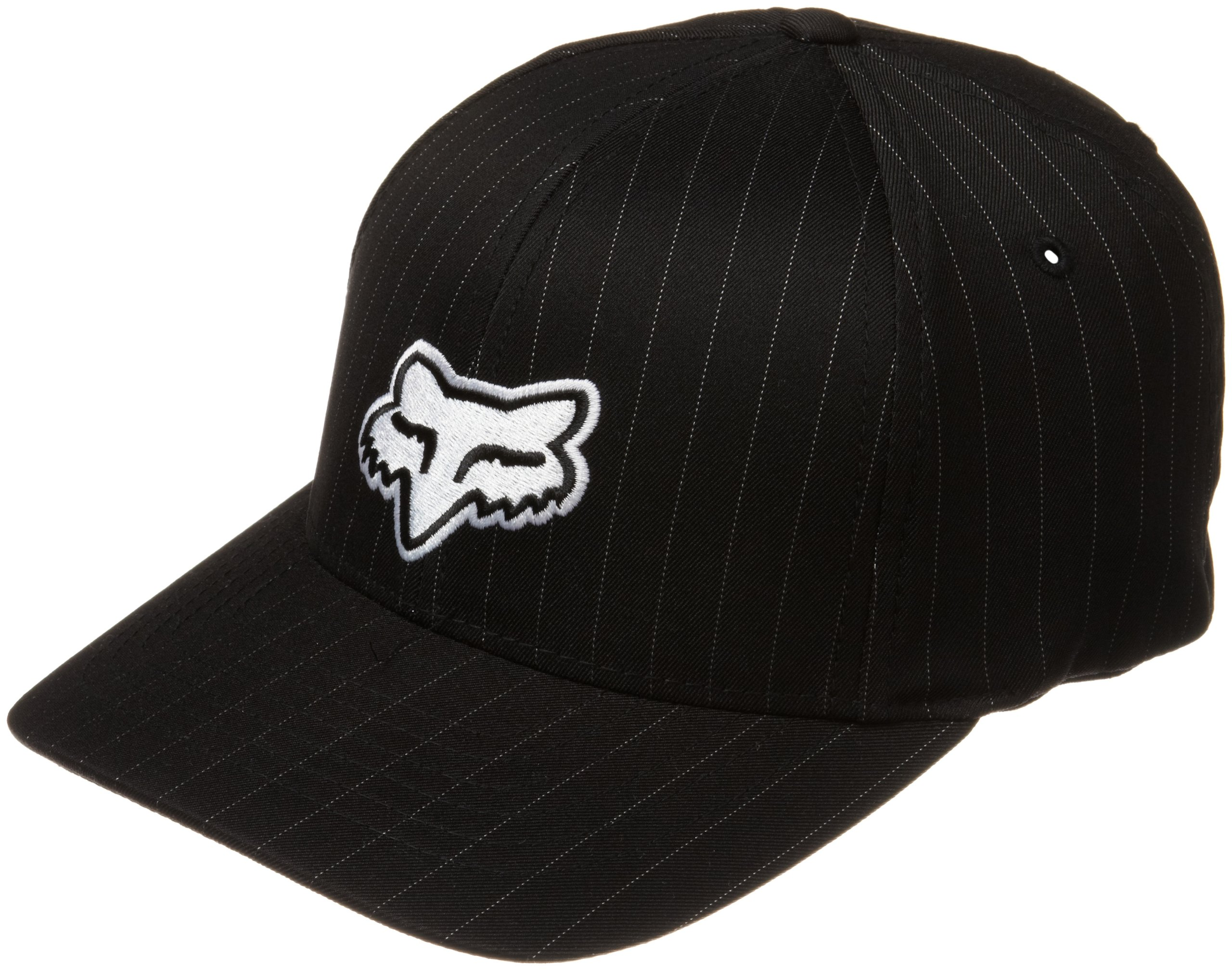 Fox Head Boy's Legacy Flexfit Hat, Black Pinstripe, One Size