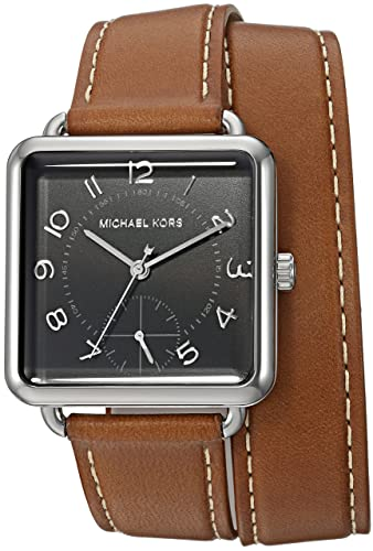 5eb792601d71 Michael Kors Women's Quartz Stainless Steel and Leather Casual Watch, Color: Brown (Model