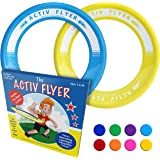 Activ Life Best Kid's Frisbee Rings [2 Pack] Fly Straight & Don't Hurt - 80% Lighter Than Standard Frisbees - Replace Screen Time Healthy Family Fun - Get Outside & Play! - Made in USA