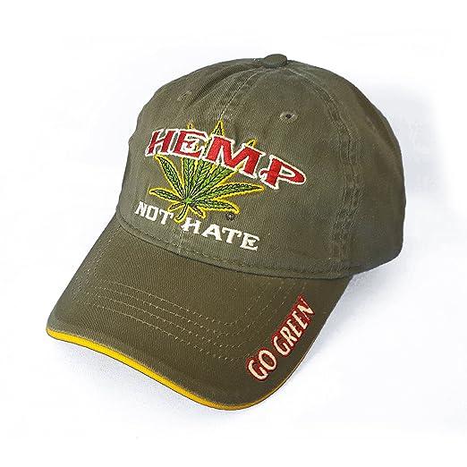 540ca2329d7 Hippiedew Hemp Not Hate Marijuana Leaf Weed MJ Baseball Cap Hat (One Size