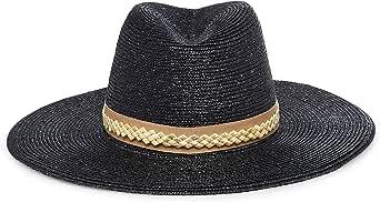 GIGI BURRIS Millinery Jeanne Straw Hat | Black and Camel