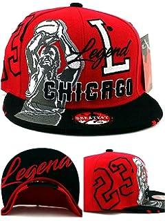 1e5afc8aa97272 Chicago New Legend Greatest 23 MJ Jordan Bulls Colors Red Black Era  Snapback Hat Cap