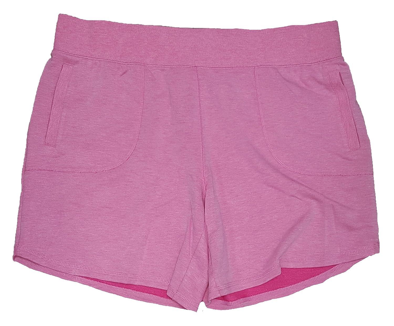 Terra & Sky Women's Plus Size Fuchsia Burst Generous Fit Knit Short