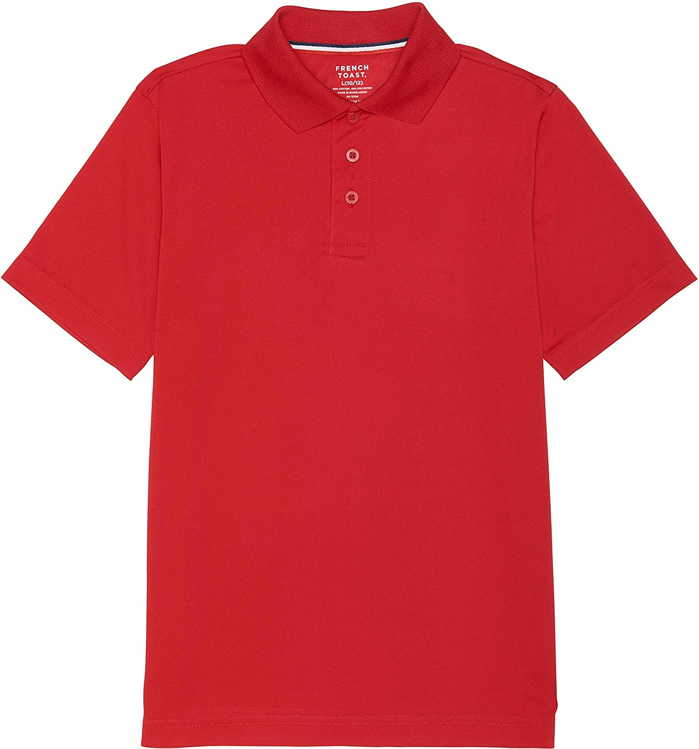 French Toast School Uniform Boys Short Sleeve Sport Polo Shirt Red X-Small (4/5)