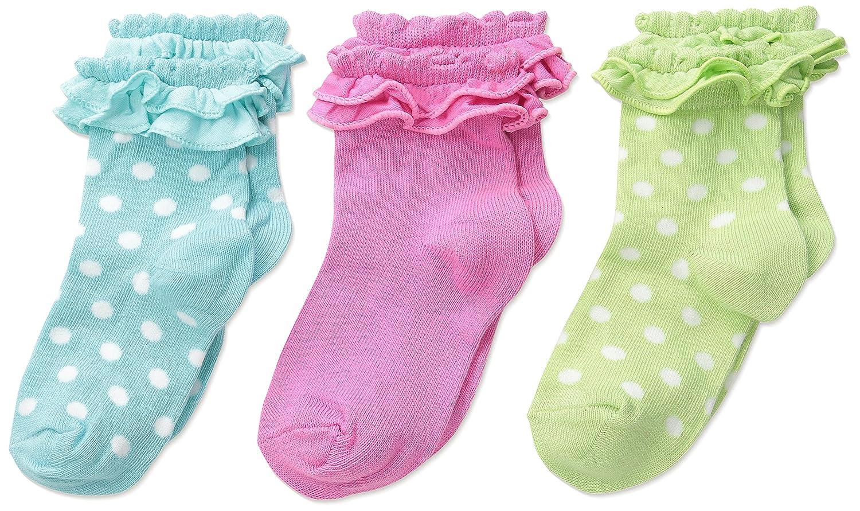 Country Kids Girls Pima Ruffle Baby Sock 3 Pr